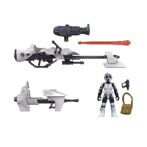 Star Wars Mission Fleet Expedition Class Wave 2 Scout Trooper & Speeder 2.5 Inch Figure & Vehicle