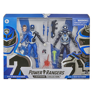 Power Rangers Lightning Collection S.P.D. Squad B Blue Ranger VS Squad A Blue Ranger Action Figure 2 Pack
