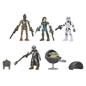 Star Wars Mission Fleet The Mandalorian Defend the Child Pack 2.5 Inch Action Figure Set