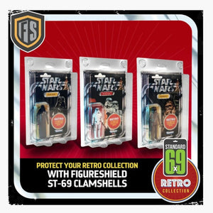 Figure Shield 6X9 Standard Protective Case for Vintage Star Wars / Retro / Vintage Collection Single