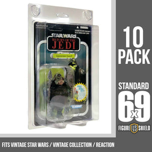 Figure Shield 6X9 Standard Protective Case for Vintage Star Wars / Retro / Vintage Collection 10 Pack