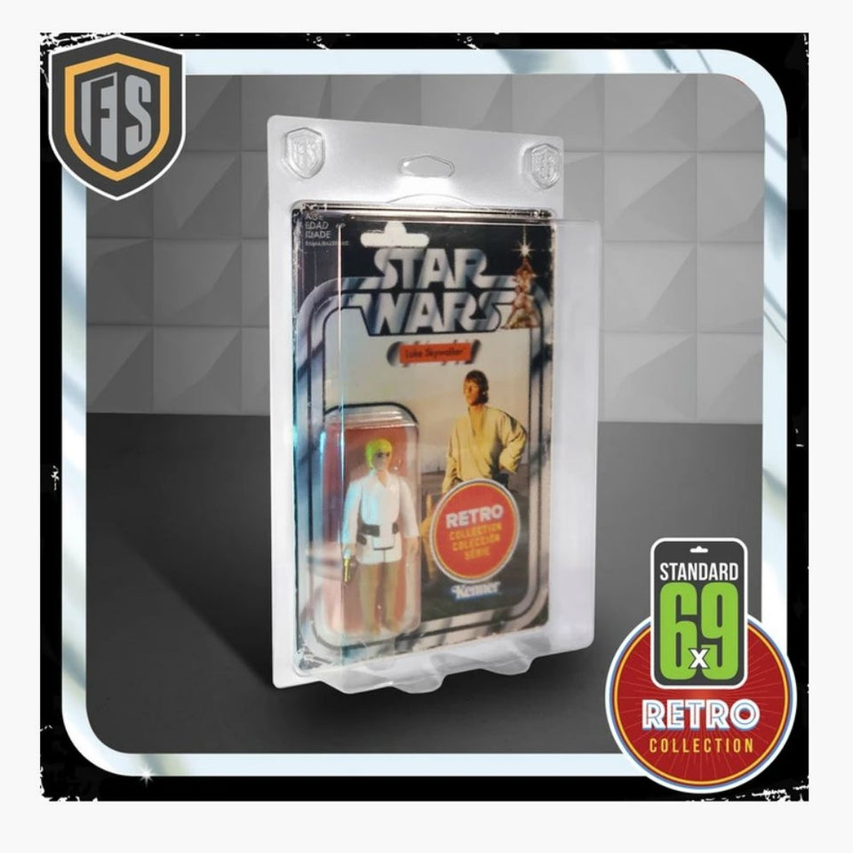 Figure Shield 6X9 Standard Protective Case for Vintage Star Wars / Retro / Vintage Collection 5 Pack