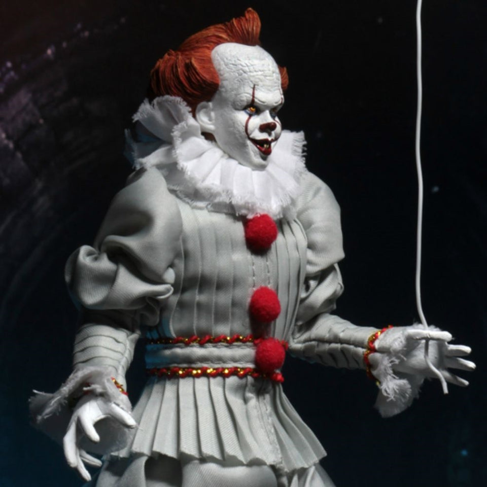 NECA 2017 It Pennywise Clothed 8 Inch Scale Action Figure