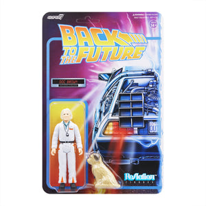 "Super7 Back to the Future 1 ReAction Doc Brown 1980's 3.75"" Action Figure"
