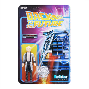 "Super7 Back to the Future 1 ReAction Doc Brown 1950's 3.75"" Action Figure"