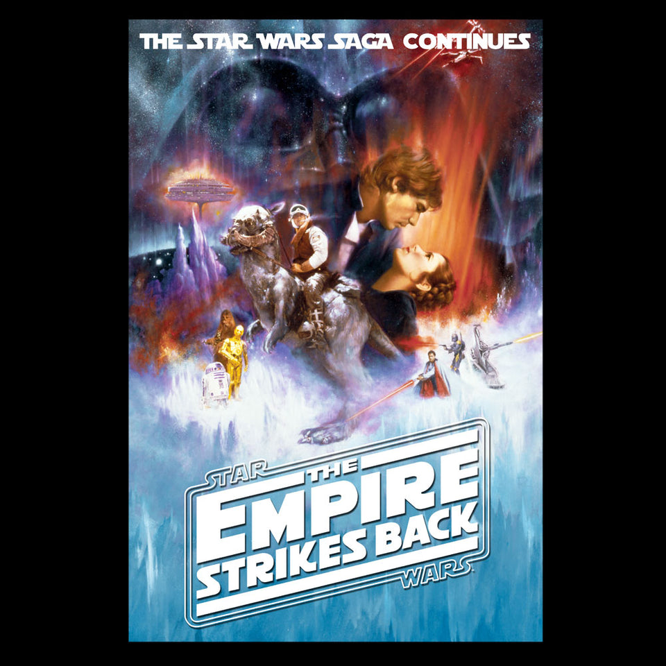 Star Wars The Empire Strikes Back Poster Black T-Shirt