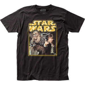 Star Wars Retro Han & Chewy Black T-Shirt