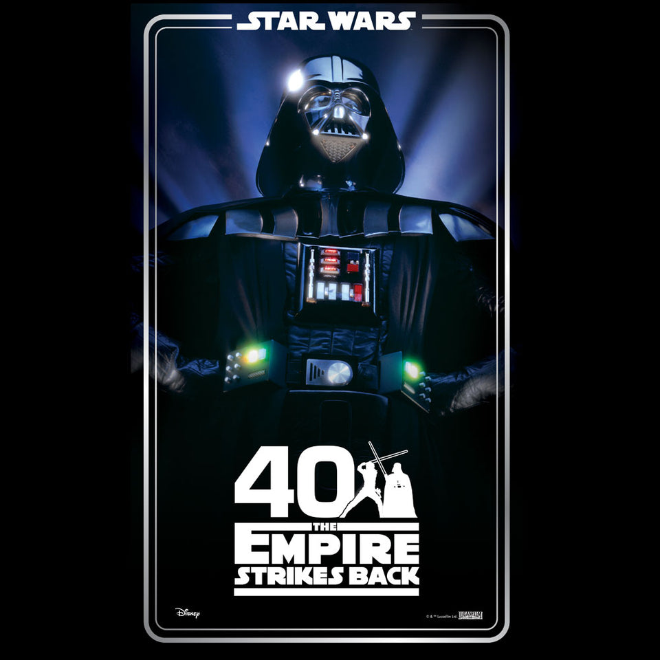 Star Wars The Empire Strikes Back 40th Anniversary Black T-Shirt