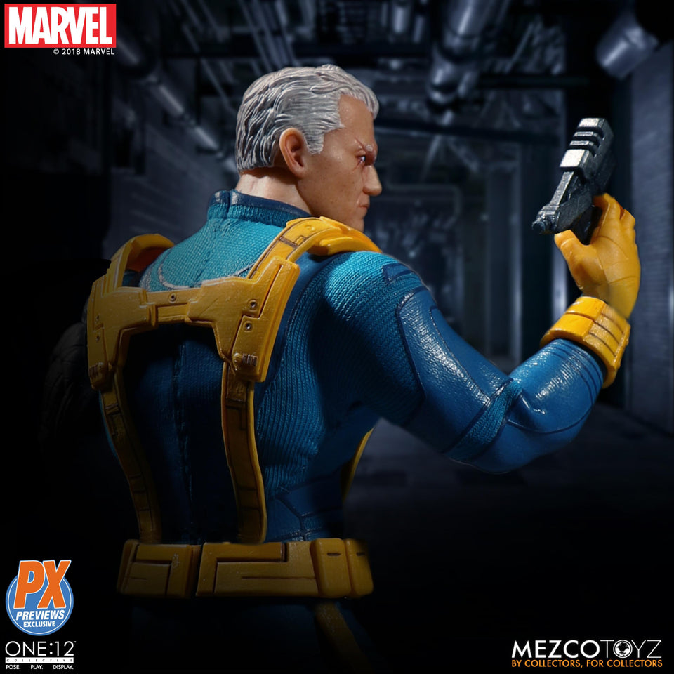 PX Exclusive Mezco One:12 Collective Marvel X-MEN CABLE FULL BODY Loose Parts