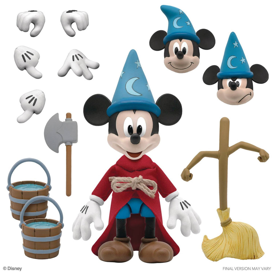 Super7 Disney Ultimates Wave 1 Sorcerer's Apprentice Mickey Mouse 7 Inch Action Figure PRE-ORDER