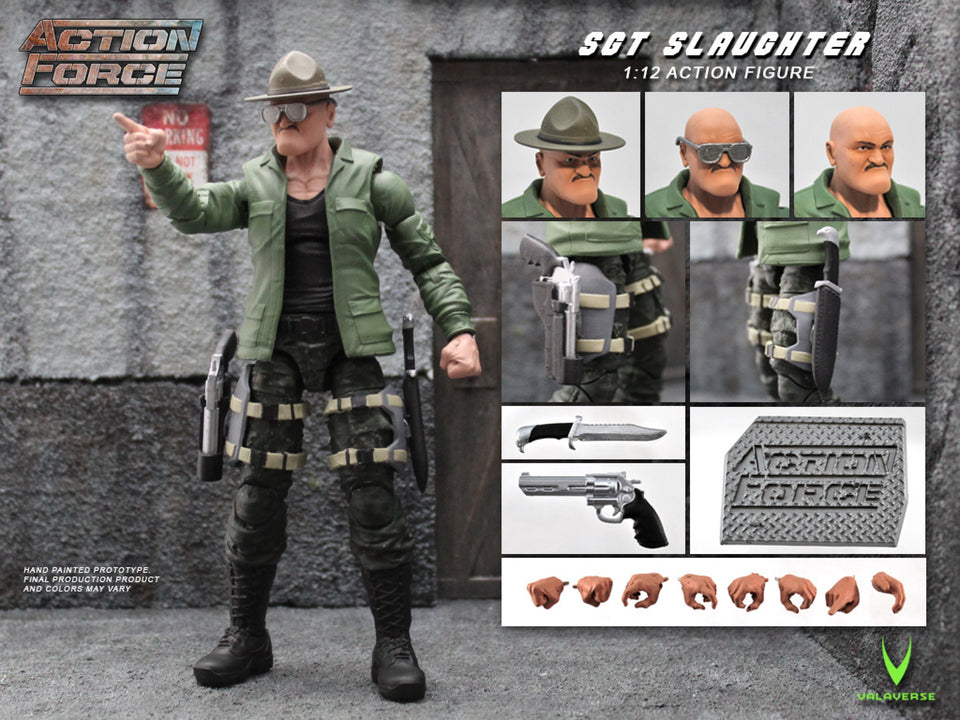 Action Force Sgt Slaughter 6 Inch Action Figure PRE-ORDER