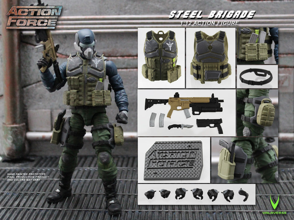 Action Force Steel Brigade 6 Inch Action Figure PRE-ORDER