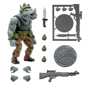 Super7 Ultimate Teenage Mutant Ninja Turtles Wave 3 Rocksteady 7 Inch Action Figure PRE-ORDER