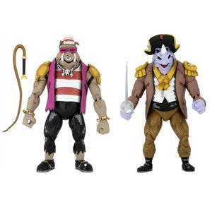 NECA TMNT Turtles in Time Pirate Rocksteady & Bebop 7 Inch Action Figures 2 Pack PRE-ORDER