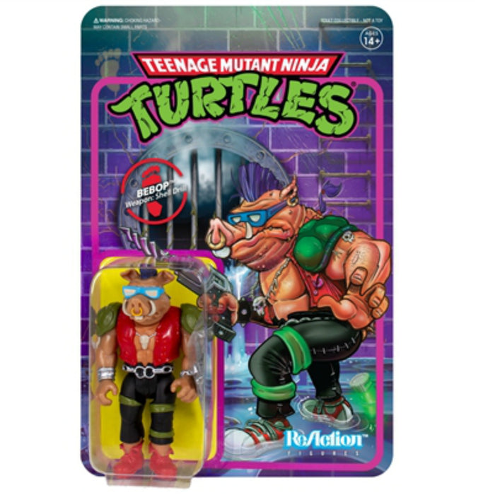 "Super7 ReAction Teenage Mutant Ninja Turtles BeBop 3.75"" Action Figure"