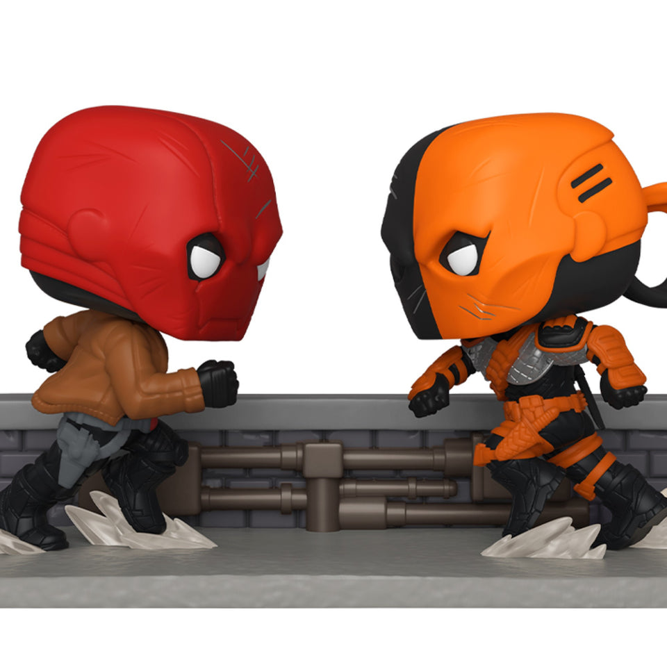SDCC 2020 Funko Pop! Comic Moments DC Red Hood vs Deathstroke
