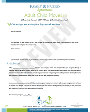 Adult Child Moves In agreement page preview.