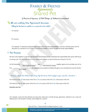 Shared Pet agreement first page preview.