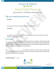 Adult Child Moves In first agreement page preview.