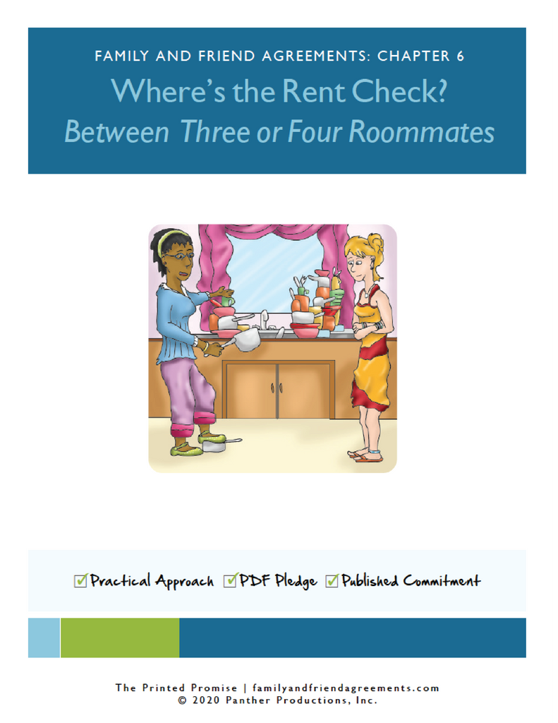 Roommate agreement cover artwork preview.