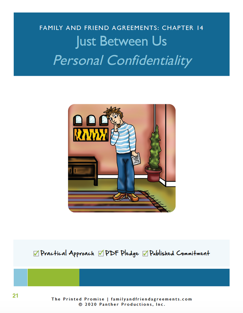 Personal Confidentiality Agreement cover art preview.