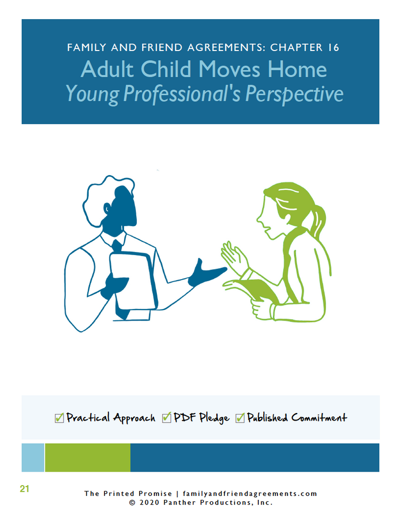 Young Professional Moves Home - Fillable PDF