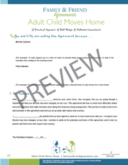 Adult Child Moves Home first agreement page preview.