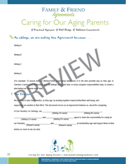 Caring for Our Aging Parents Agreement - Fillable PDF