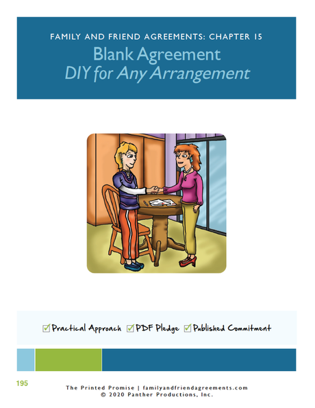 Blank Agreement for any arrangement cover art preview.