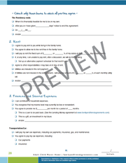 Adult Child Moves Home agreement checklist preview.
