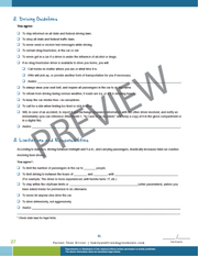 Teen Driving Agreement - Fillable PDF