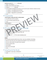 Lending Money Agreement checklist page preview.