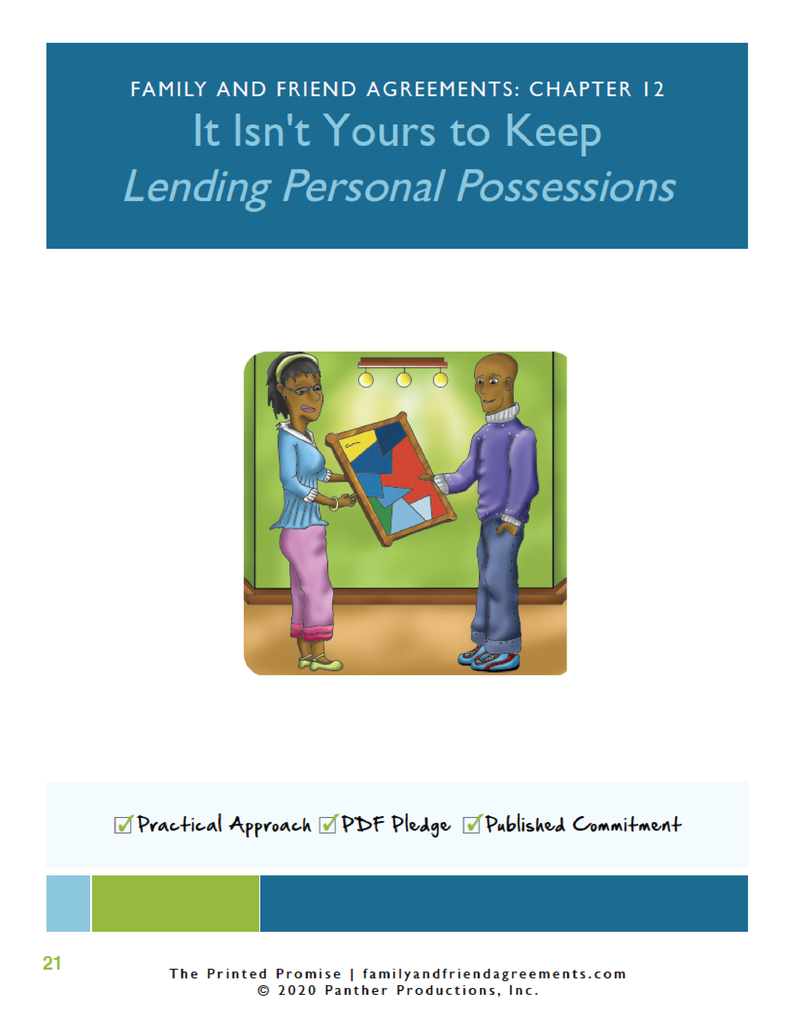Personal Possessions Loan Agreement - Fillable PDF