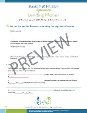Lending Money Agreement page one preview.