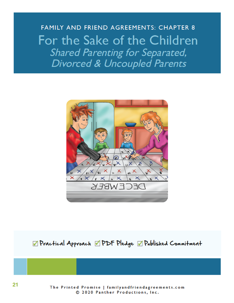 Shared-Parenting Agreement - Fillable PDF