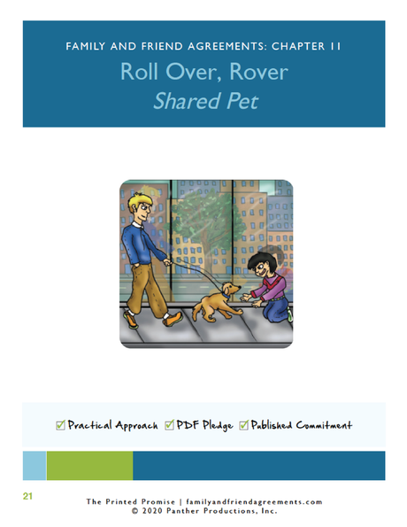 Shared Pet, Pet Parenting Agreement - Fillable PDF