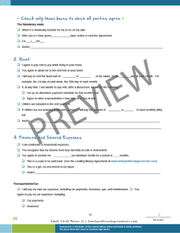 Young Professional moves in agreement checklist preview.