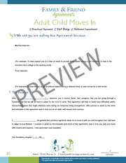 Adult Child Moves In, relative's perspective first agreement page preview.