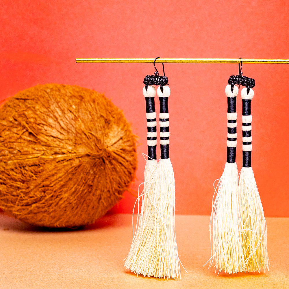 Iguana Tassel Earrings
