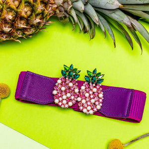 Fuchsia Pineapple Belt