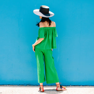 GAUZY GREEN PANTS