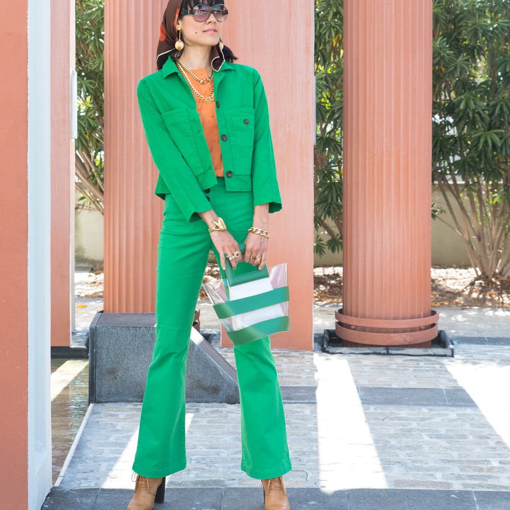 BRIGHT GREEN PANTS