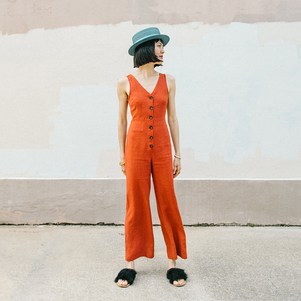 DARK RUST JUMPSUIT