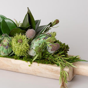 Wood Boat Succulent Arrangement