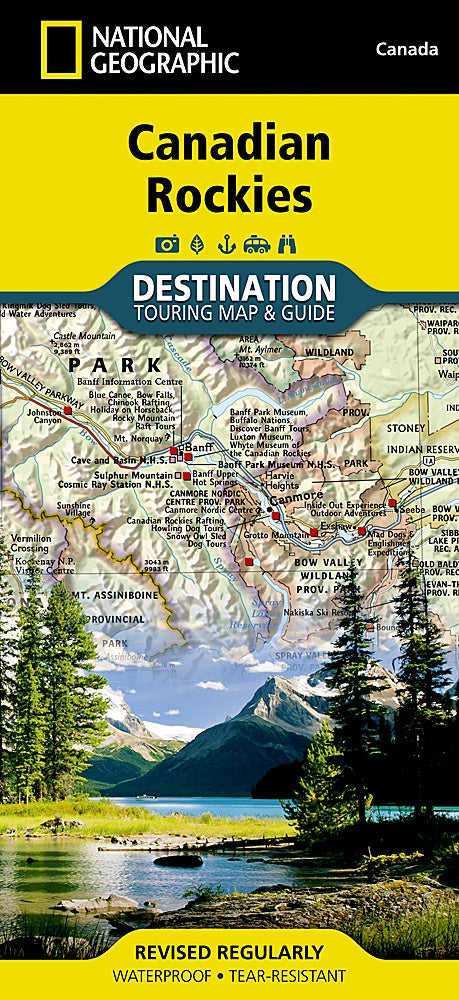 Canadian Rockies Touring Map
