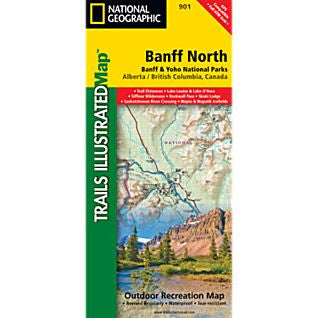 Banff North Trail Map