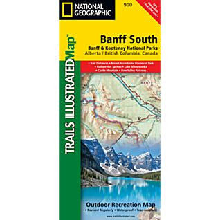 Banff South Trail Map