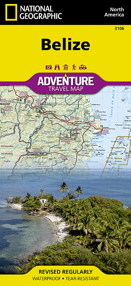 Belize: National Geographic Adventure Travel Map