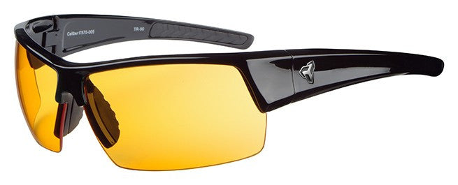 Ryders Caliber Black with Orange Lens