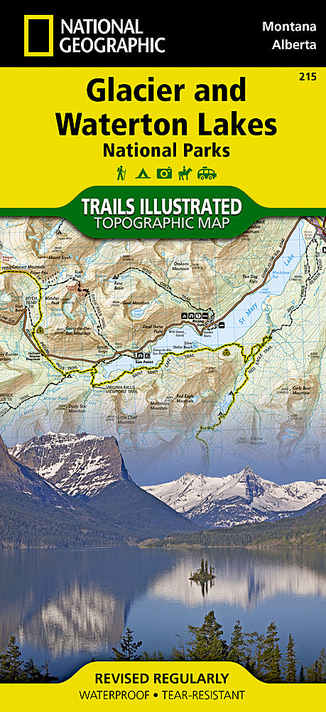 Glacier and Waterton Lakes National Parks Map